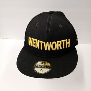 New Era 59 Fifty Wentworth Wool Cap Hat Size 7&3/8